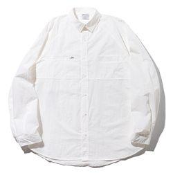 매스노운 지퍼 포켓 오버사이즈 셔츠 MFZST001-WT