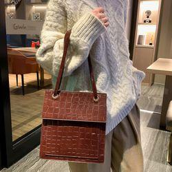romansera 악어가죽 가방 핸드백 크로커다일