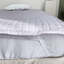 로엔 면 사각누빔 침대패드 밴딩카페트 Q