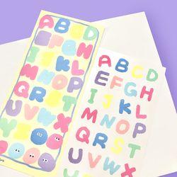 리무버블 알파벳 도무송 씰스티커 - 밀크토이 ABC