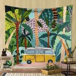 태피스트리 패브릭 포스터 - 정글 드라이브 (150x130cm)
