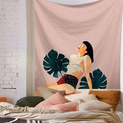 태피스트리 패브릭 포스터 - 썬셋걸 (150x130cm)