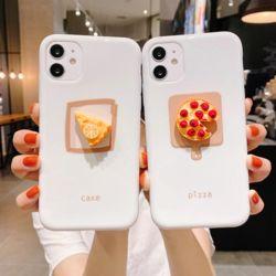아이폰 11 SE2 XR XS 8 미니 피자 데코 실리콘 케이스