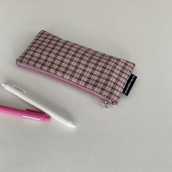 러블리 핑크 필통(Lovely pink pencil case)