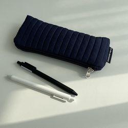 패딩 네이비 필통(Padding navy pencil case)
