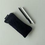 검정 골덴 필통(Black corduroy pencil case)