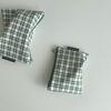 초록 심플 체크 파우치(Green simple check pouch)-S