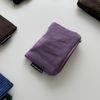 바이올렛 골덴 파우치(Violet corduroy pouch)-S