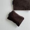 브라운 골덴 파우치(Brown corduroy pouch)-S