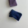 딥블루 골덴 파우치(Deep Blue corduroy pouch)-S