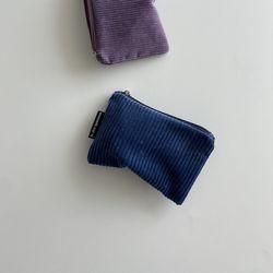 딥블루 골덴 파우치(Deep Blue corduroy pouch)-M