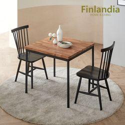 핀란디아 티크 원목 2인식탁세트(의자2)