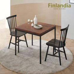 핀란디아 레드파인 원목 2인식탁세트(의자2)
