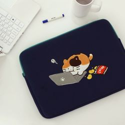 모찌타운 까망 고양이 노트북 파우치 15인치
