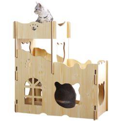 고양이 하우스 다목적 원목 캣타워 숨숨집 놀이터 DIY