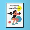 피트니스4 운동  M 유니크 디자인 포스터 A3(중형)