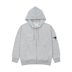 Rainbow Hood Zipup (gray)
