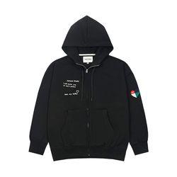 Rainbow Hood Zipup (black)