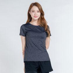 DURAN 올시즌 스트레치 우먼 티셔츠 DTF0S-3008 멜란지 그레이