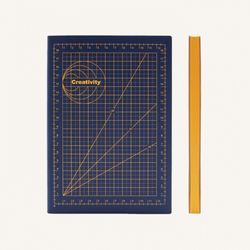 Signature Mathematical Grid Notebook (A5) Creativity