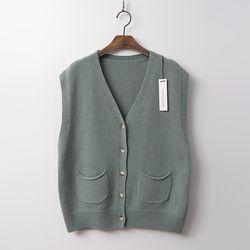 Merino Wool Button Vest