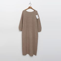 Maille Cashmere N Wool Puff Long Dress