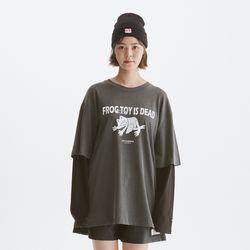 [노이커먼][노이커먼] FROG LAYERED 티셔츠 GY