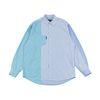 [러닝하이]컬러 블록 스트라이프 오버사이즈 셔츠 [블루]