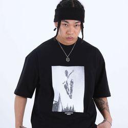 [마르트]SKATE PRINTING T-SHIRT 티셔츠 (BLACK)