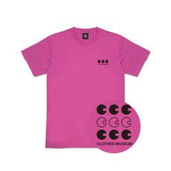 [클로즈뮤지엄] 씨씨씨 로고 반팔 티셔츠 - 핑크