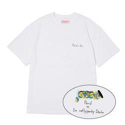 [리플라이퍼키] RN#8005 퍼드 x 아이엠 티셔츠 (White)