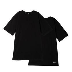 [리플라이퍼키] [UNISEX]스탠다드 레이어드 롱 티셔츠(Black)