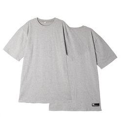 [리플라이퍼키] [UNISEX]스탠다드 레이어드 롱 티셔츠(Grey)