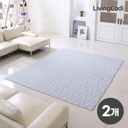 2개세트 리빙코디 PVC 소프트 놀이방매트 170x140x1.2cm