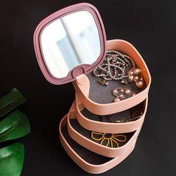 PH 4단 쥬얼리 보관함 거울