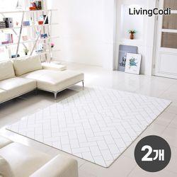 2개세트 리빙코디 PVC 소프트 놀이방매트 200x140x1.2cm