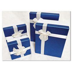 홀마크 리본 선물포장상자 4종세트- 블루