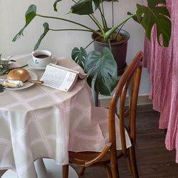 쉐어베이지클럽 식탁보 테이블보 120x120cm