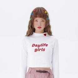 데이라이프 하프 넥 티셔츠 (화이트)