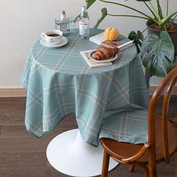 쉐어스쿨민트 식탁보 테이블보 120x120cm