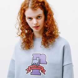 PASTEL CAT LOGO SWEATSHIRT [SOFTBLUE]