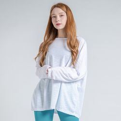 DURAN 에어핏 보트넥 긴팔 티셔츠 DTF0S-4074 화이트