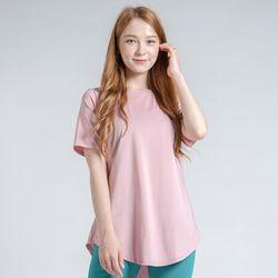 DURAN 이지 롱 반팔 티셔츠 DTF0S-3011 인디핑크