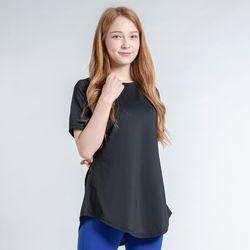 DURAN 이지 롱 반팔 티셔츠 DTF0S-3011 블랙