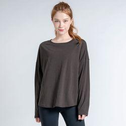 DURAN 데일리 루즈핏 긴팔 티셔츠 DTF0S-4073 브라운