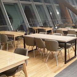 4인용 일자형 회사 구내식당 가림막 주문제작 가능 1180x600mm