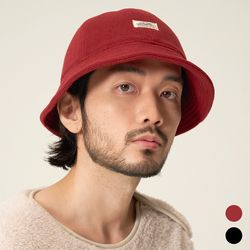 T204AACU58 WH LABEL FLEECE BUCKET CAP 후리스 버켓