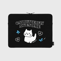 Awesome cat-black-13inch notebook pouch