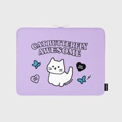 Awesome cat-purple-13inch notebook pouch