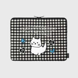 Awesome cat check-black-13inch notebook pouch